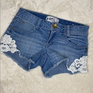 Jolt Jean Shorts with Lace